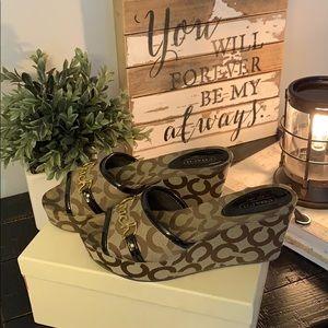 Coach wedge sandal authentic size 6